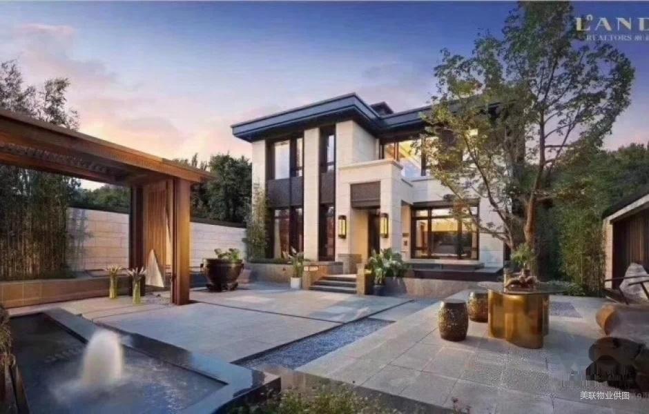 8米挑空 新中式合院别墅 空间感设计11米大图片