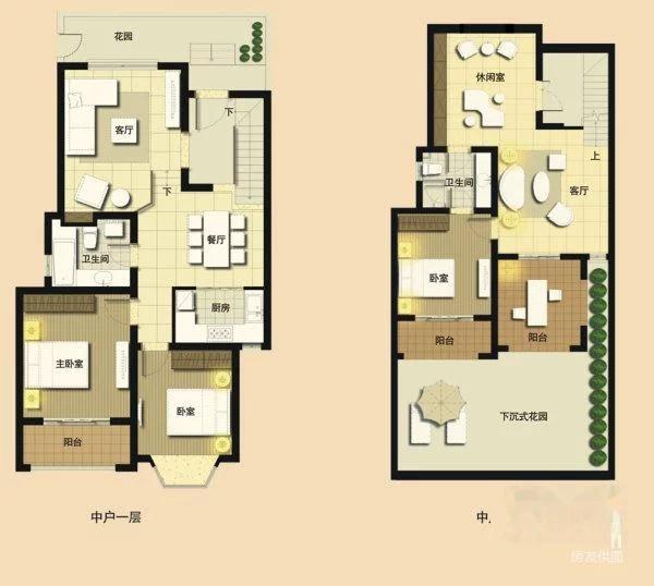 新房装修 普罗旺世下沉式复式 一楼送80平花园 无税 有车位图片