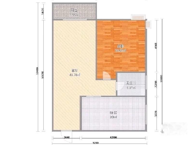 沙坪坝 龙凤云州 精装一室一厅可改两房图片