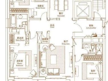 小区房子客厅屋顶电路图