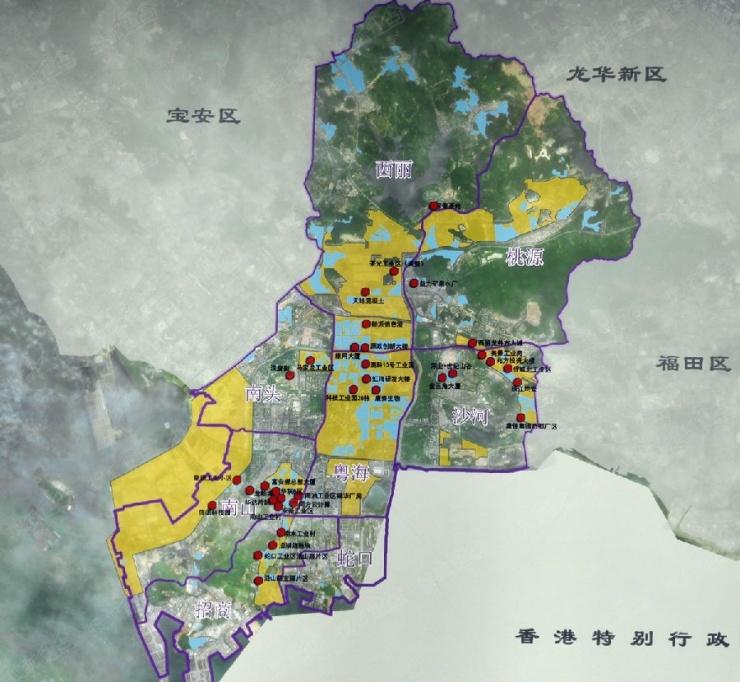 南山城市更新街道划分图片