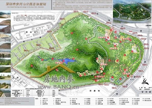 华侨城北侧为延绵起伏的塘朗山郊野公园景观,西北侧就是大沙河公园