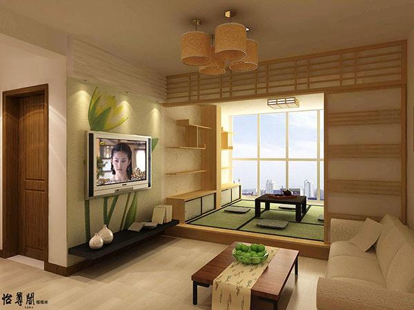 小户型客厅 阳台 卧室 客房 榻榻米地台装修效果图