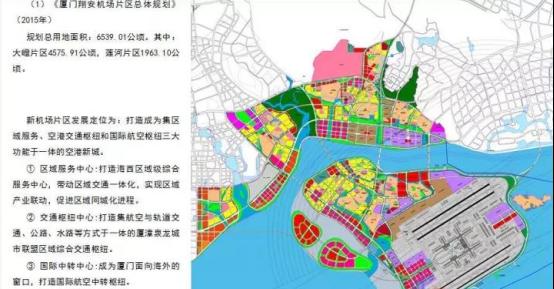 翔安机场片区规划图及三大中心定位