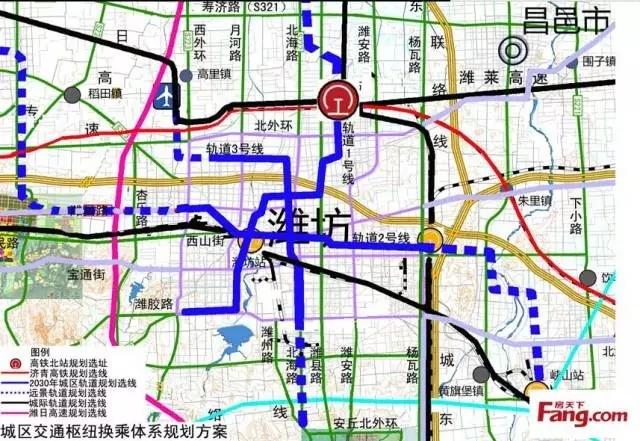潍坊将划入青岛都市圈!潍坊高铁北站乘轻轨直达五四广场!