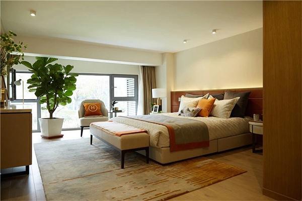 92平米loft户型一层卧室样板间