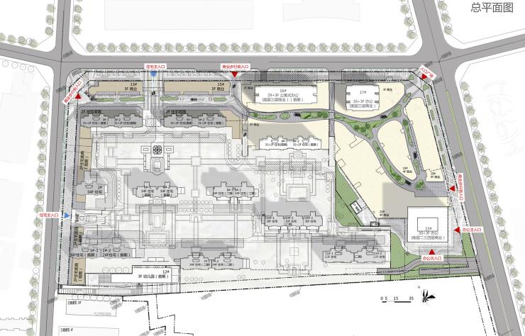 2,调整后兰州中海宏洋房地产开发有限公司中海广场项目修建性详细