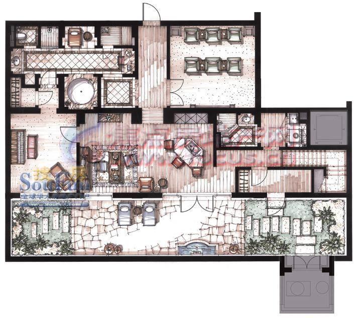 别墅沐桥公寓芭比娃娃的房子公元图片