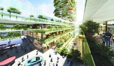 """南京""""垂直森林""""大楼效果图"""