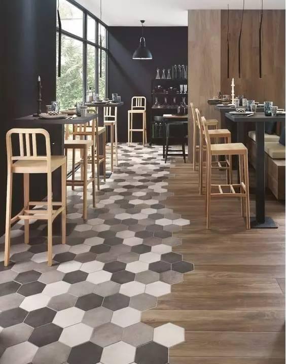 当瓷砖遇上木地板,空间分区又美出新高度!