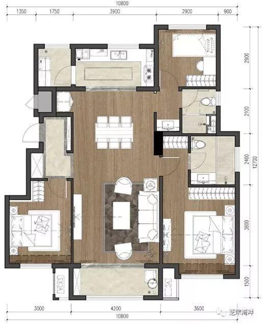 朝阳所城安置房房型图:6类户型最大面积120㎡