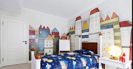【誉巢设计院】儿童房手绘墙装饰设计