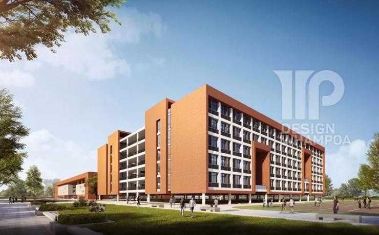学生宿舍楼效果图 图片来源:黄埔建筑设计院.