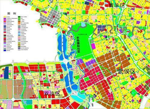 《成都市武侯控规公众版规划公布图》《成都市双流区控制性详细规划