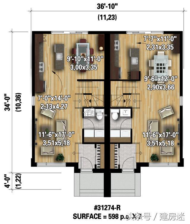 教程太小别怕,4套自建房房屋10米X10米两层别墅设计图绳绘制作基地视频图片