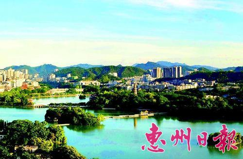 """""""规划草案""""提出,将打造惠州西湖风景名胜区""""一带双心,三区三环多节点"""