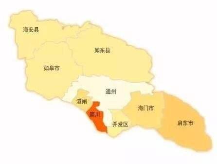 规划图 南通分为如皋,海门,启东,海安等几个区县,这几个区县2017年的