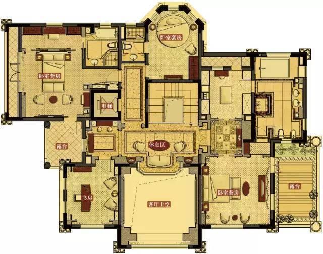 豪宅设计图纸平面图