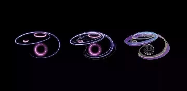 """由三个明显的圆形构成""""三体""""组合而成 也就是太阳,地球和月球 椭圆形"""
