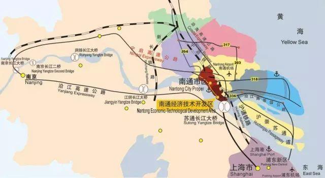 南通高铁圈线路分布