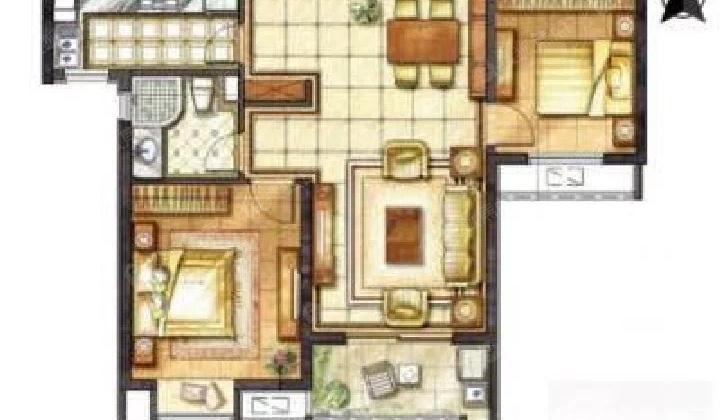 北大街核心地段!华润悦锦湾2室1厅1卫精装修好房诚心出售