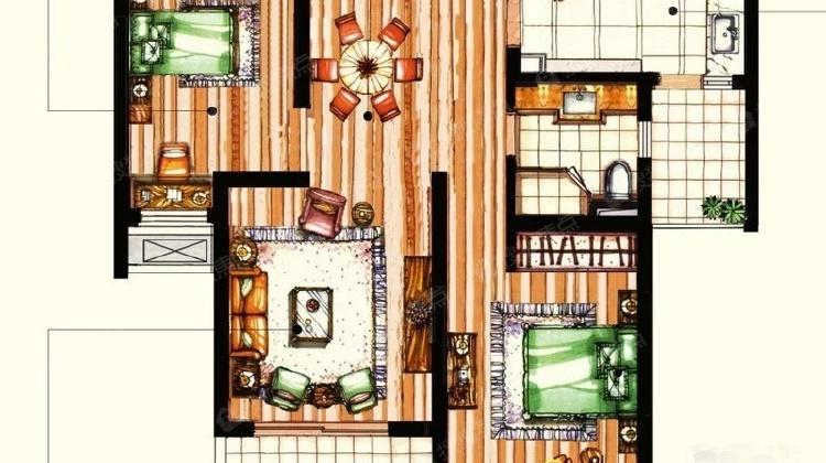奉贤城区,精装小户型住房,全明设计购物方便,紧邻地铁