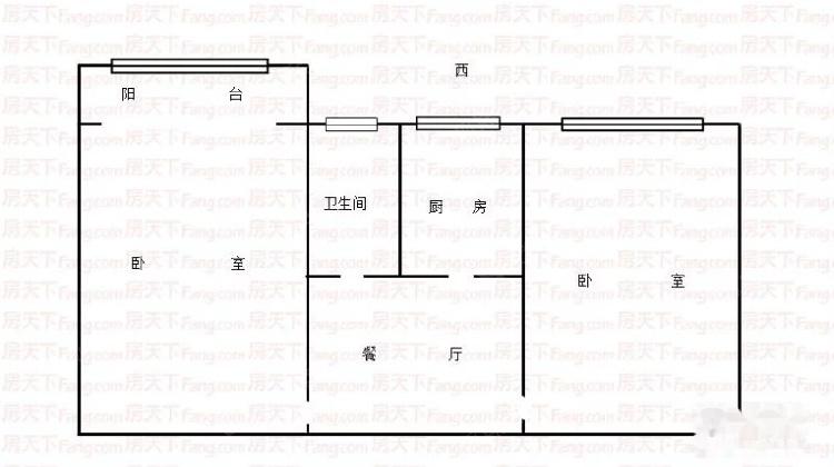 火车站林锋汽修厂八栋楼对面58平朝南两室厅框架54万图片