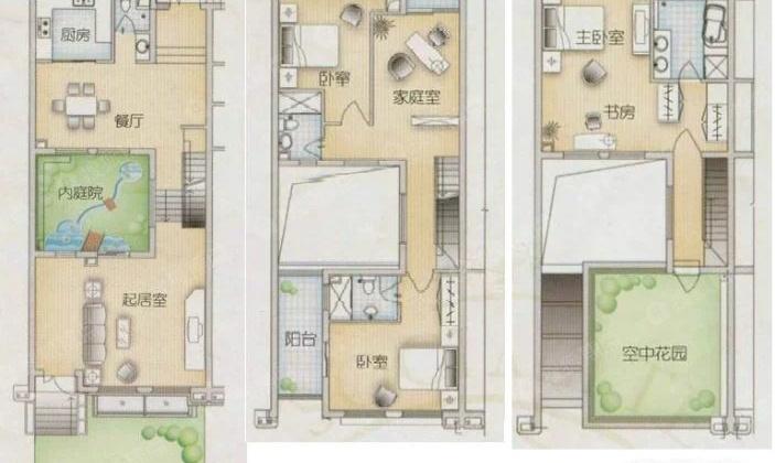 现代缘墅大双拼别墅,自带300平私家花园,精装修