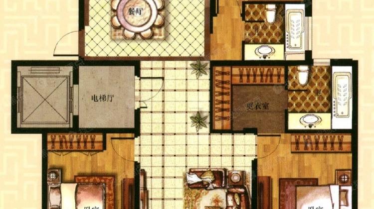 24号线地铁口 三房精装修 电梯花园洋房 一梯一户 南北通透