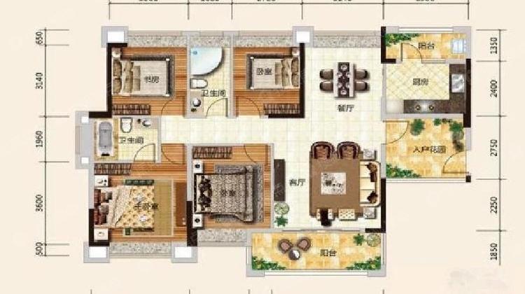 雅居乐锦城花冠集 两房 未占用学位毛坯价买装修房