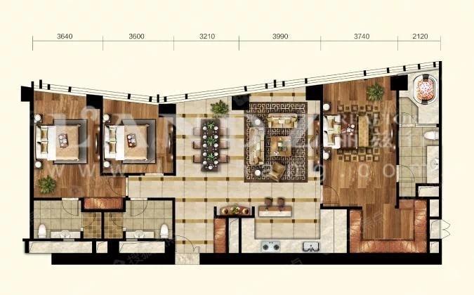 新出,性价比高,双套房设计,开放式厨房,目前空置