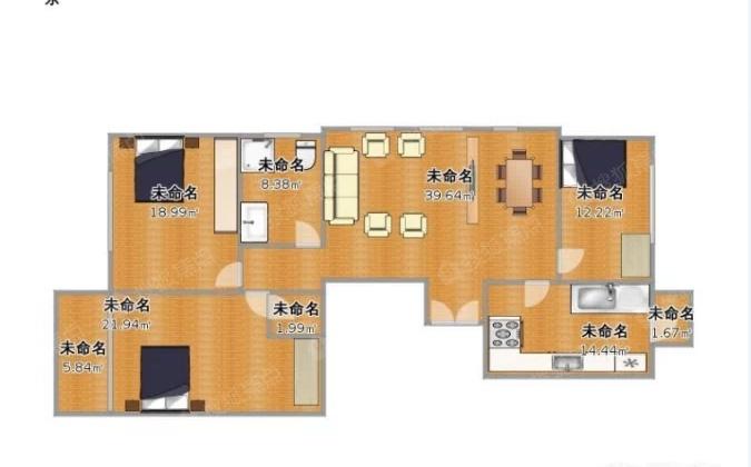 保亿风景大院,精装三室,小区中间位置,单价一万4,可做