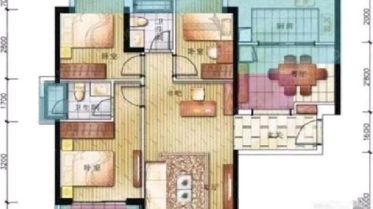 龙脊花园 精装三室一厅 住家装修 看房方便 业主诚心出售