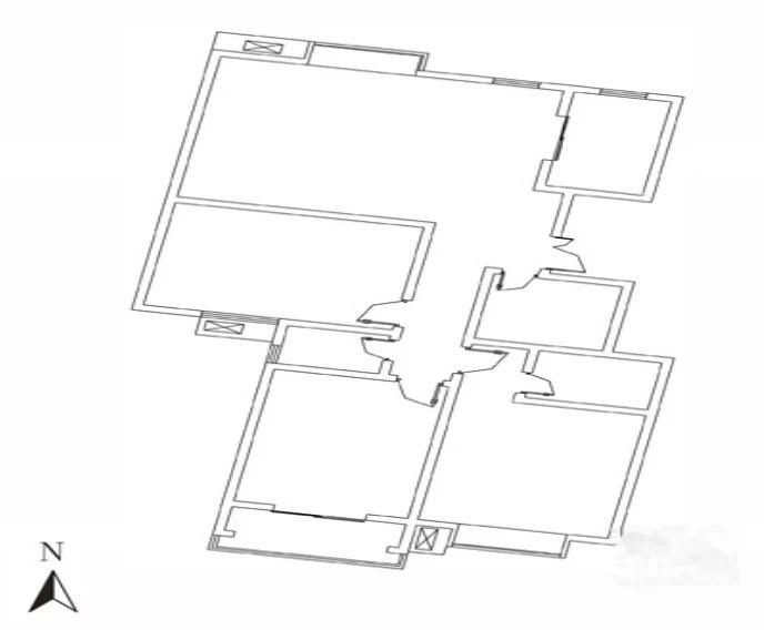 户型 户型图 简笔画 平面图 手绘 线稿 688_568
