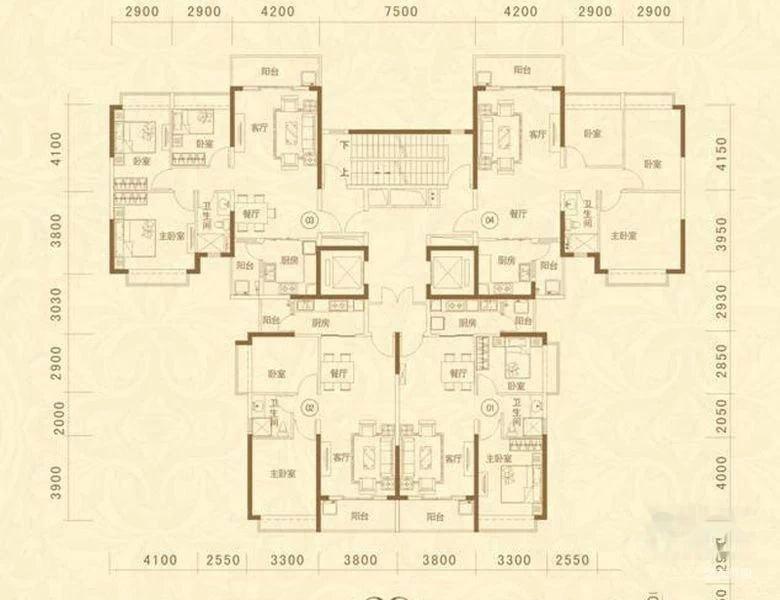 恒大名都 精装三房户型 费用1.5 115平 仅售126万