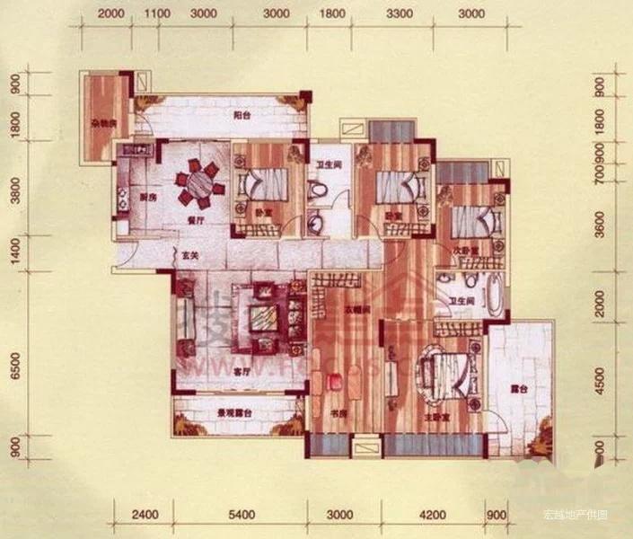 莱茵湖畔5房带大露台 景观楼中楼售价280万 栋座不靠路边