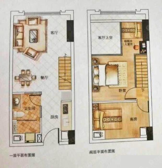 0平米(使用率71%) 户型解析: 卧室:loft设计,卧室和客厅分离,私密安静