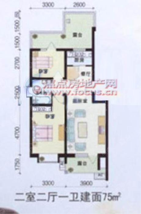 丽江半岛花园2室2厅 1卫75平方米丽江风景a