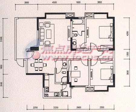 108平方米房屋设计图