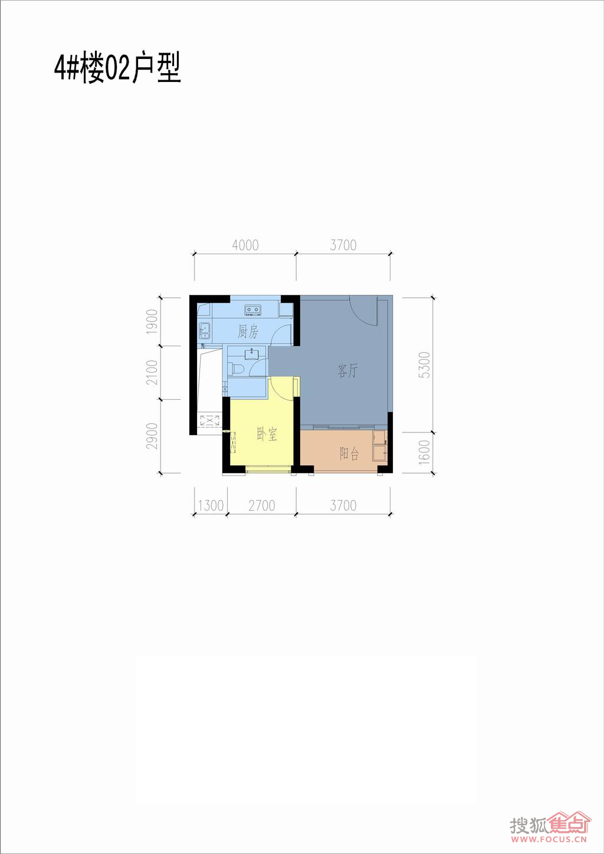 联发杏林湾1号花园二期(a1地块)4#,5#,地下室4#楼20层02单元户型