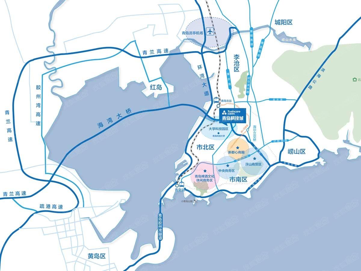 成都至青岛的地图