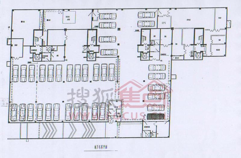 二号楼地下车库平面图