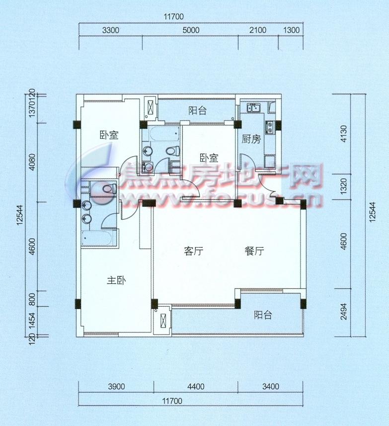 绿城西子百合公寓百合公寓 b146平米_绿城西子百合图