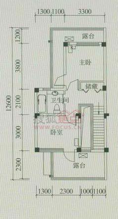 合院別墅f型二層平面圖戶型