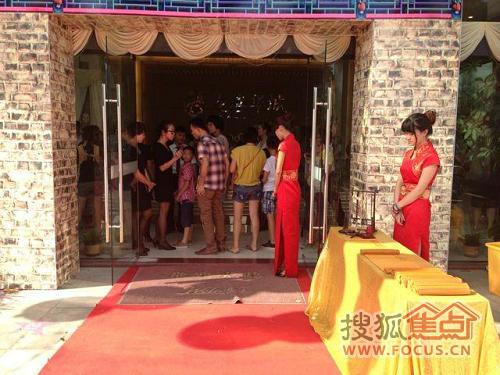 中国风竹简毛笔签到,礼仪着旗袍迎宾,无处不体现项目的高品味和独特用心