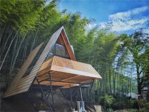 木瓦打造的余姚树屋部落,木瓦三角木屋天然的室外桃园!
