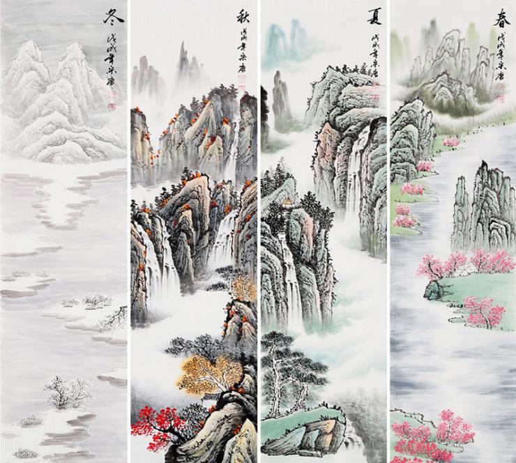 宋唐手绘山水市场价格多少 山水雅致景色优美