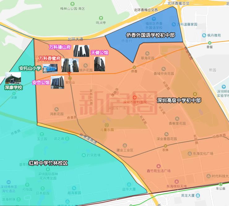 实探福田网红新盘万科香蜜府 10月底将开盘180平户型图曝光