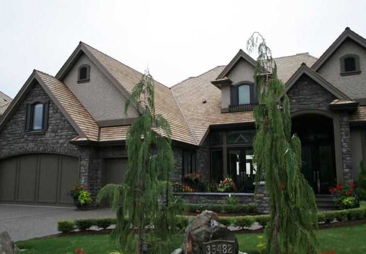 木瓦是传统建筑用屋顶木瓦效果就是好