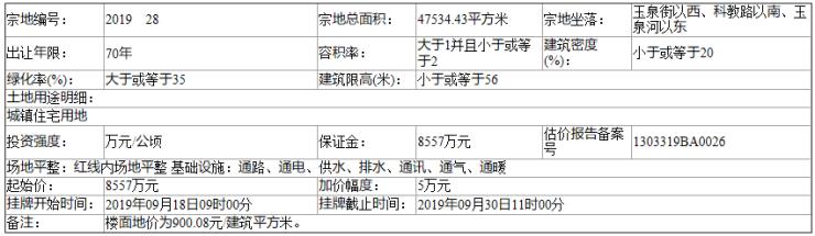邯郸魏县自然资规告字[2019]18号土地挂牌出让